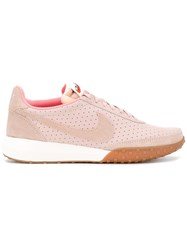 Nike Roshe Waffle Trainers Women Suede Polyamide Rubber 8 Pink Purple