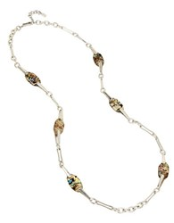 Robert Lee Morris Cool As Ice Station Necklace White