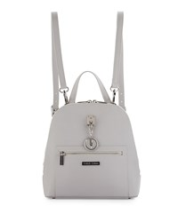 Charles Jourdan Oceane Saffiano Double Zip Backpack Gray