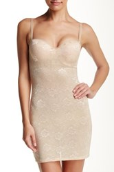 Heavenly Secrets Power Mesh Control Full Slip Plus Size Available Beige