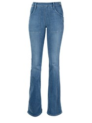 Frame Denim High Waisted Flared Jeans Blue