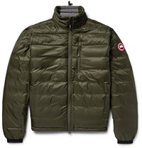 Canada Goose Gooe Lodge Packable Quilted Riptop Down Jacket Army Green