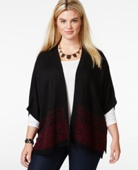 Extra Touch Plus Size Short Sleeve Cardigan Black