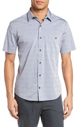 Maker And Company Men's Regular Fit Print Short Sleeve Sport Shirt