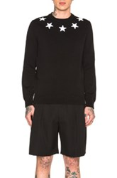 Givenchy Star Collar Crew Neck Jumper In Black