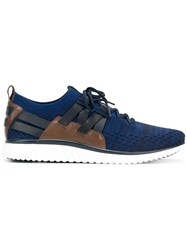 Cole Haan Strappy Patterned Sneakers Blue