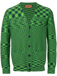 Missoni Embroidered Fitted Cardigan Green
