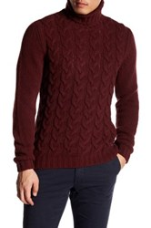 Woolrich John Rich And Bros Cable Knit Turtleneck Sweater Purple