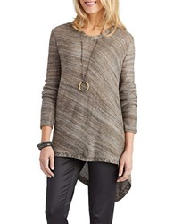 Democracy Asymmetrical Lace Up Sweater Olive