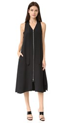 Edun Silk Neck Tie Dress Black