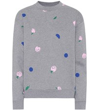 Etre Cecile Printed Cotton Sweater Grey