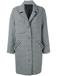 Mother Of Pearl Checked Drop Shoulder Coat White