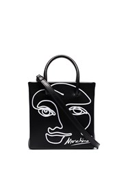 Moschino Painted Face Tote Bag Black