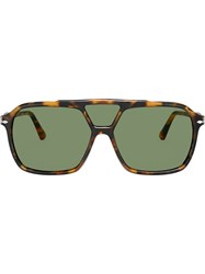 Persol Square Oversized Sunglasses Green