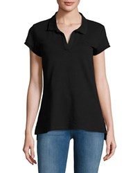 Ck Calvin Klein Solid Cotton Blend Polo Black