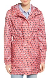 Joules Right As Rain Packable Print Hooded Raincoat