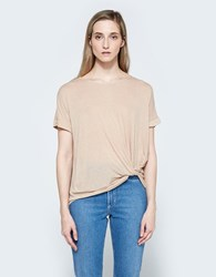 Which We Want Twist Tee Taupe