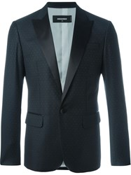 Dsquared2 Polka Dot Blazer Black