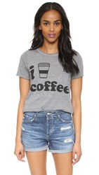 Chaser I Heart Coffee Tee Streaky Grey