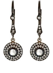 Zoe Women's Circular Drop Earrings Black