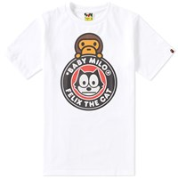 A Bathing Ape X Felix The Cat 3 Tee White