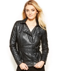 Dollhouse Asymmetrical Faux Leather Jacket Black