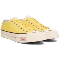 Visvim Skagway Leather Trimmed Canvas Sneakers Yellow