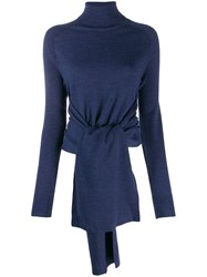 J.W.Anderson Jw Anderson Roll Neck Knitted Top Blue
