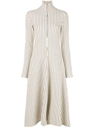 Rosie Assoulin Striped Shirt Dress White