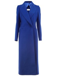 Maison Martin Margiela Fitted Long Length Coat Blue
