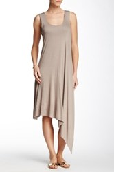 Sweet Pea Sleeveless Asymmetric Dress Brown