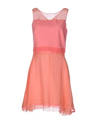Just For You Short Dresses Salmon Pink