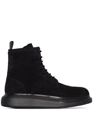 Alexander Mcqueen Hybrid Lace Up Ankle Boots 60