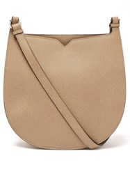 Valextra Hobo Weekend Grained Leather Shoulder Bag Beige