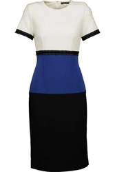 Raoul Color Block Crepe Dress Black