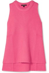 Derek Lam Ribbed Cashmere Top Pink
