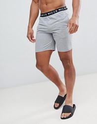 Nicce London Lounge Shorts In Grey With Waistband
