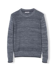 Mango Texas Mixed Knit Sweater Grey