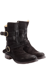 Fiorentini And Baker Suede Buckle Boots