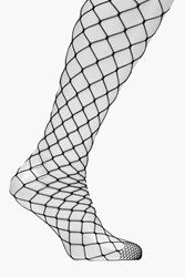 Boohoo Oversized Diamond Fishnet Tights Black