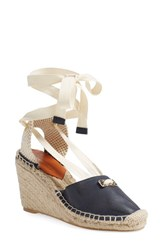 Women's Diane Von Furstenberg 'Marcelle' Espadrille Wedge Sandal Ink Leather