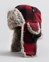 The Men's Store At Bloomingdale's Large Plaid Trapper Hat