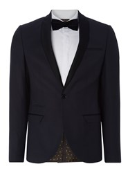 Label Lab Kingley Sb1 Shawl Collar Skinny Suit Jacket Black