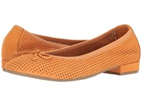 David Tate Albany Peach Nubuck Women's Flat Shoes Orange