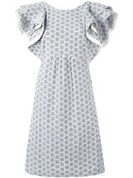 Dorothee Schumacher Embroidered Detail Dress Grey