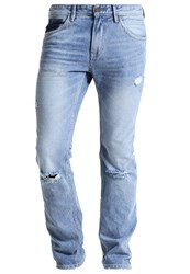 Tom Tailor Denim Aedan Slim Fit Jeans Destroyed Light Stone Wash Light Blue Denim