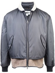 Oamc Layered Bomber Jacket Grey
