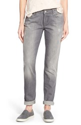 Women's Mavi Jeans 'Emma' Distressed Stretch Slim Boyfriend Jeans Grey