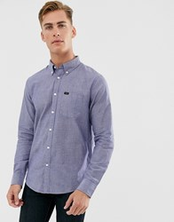 Lee Button Down Shirt In Blue