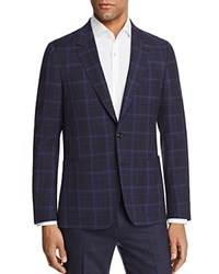 Paul Smith Large Scale Check Unconstructed Slim Fit Sport Coat Blue